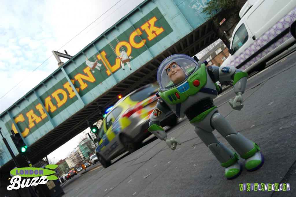 Buzz On Tour - Buzz at Camden Lock - photograph copyright David Bailey (not the)