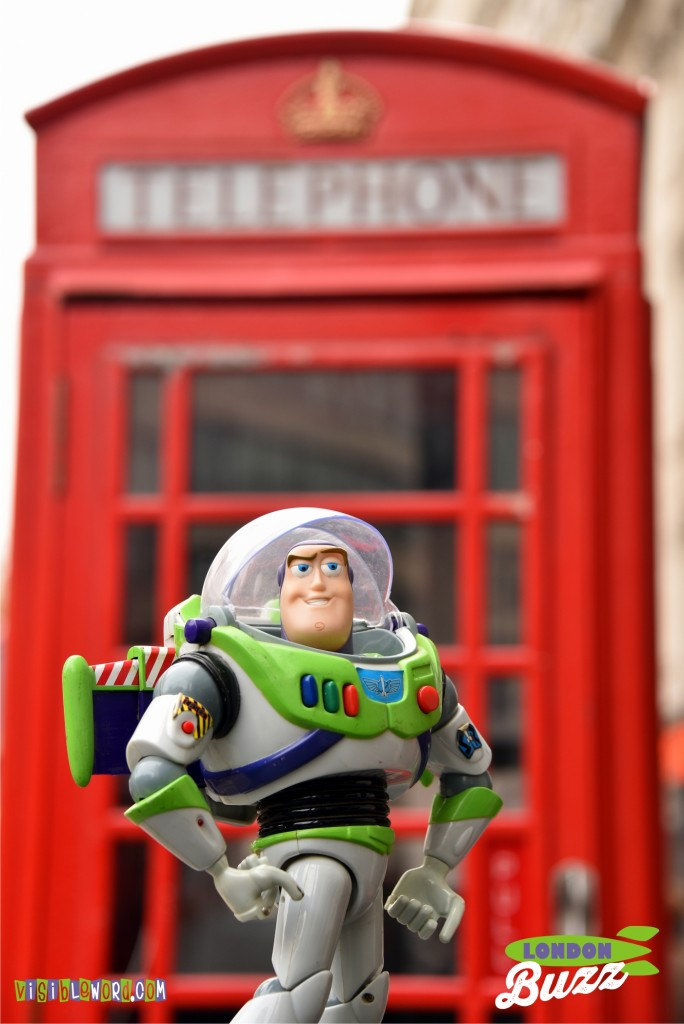 Buzz On Tour - A currant red London telephone box - photograph copyright David Bailey (not the)