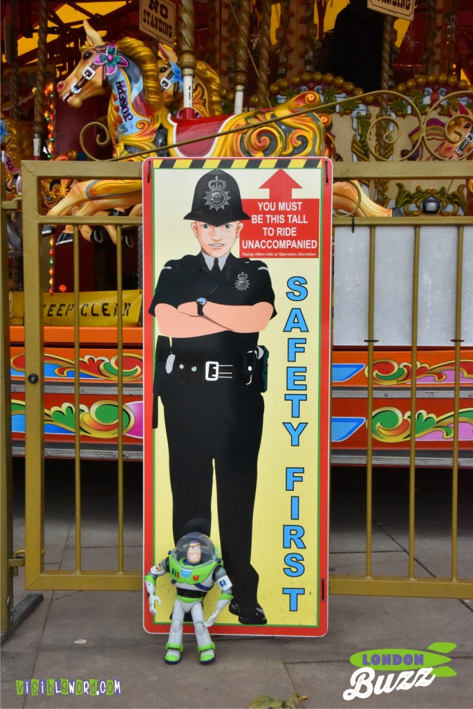 Buzz On Tour - Buzz checks the Safety First billboard - photograph copyright David Bailey (not the)