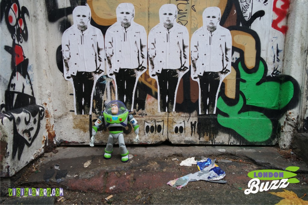 Buzz On Tour - Buzz and Graffiti on Brick Lane - photograph copyright David Bailey (not the)