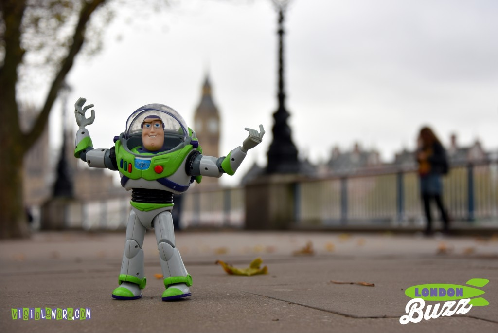 Buzz On Tour - Buzz and the Palace of Westminster - photograph copyright David Bailey (not the)