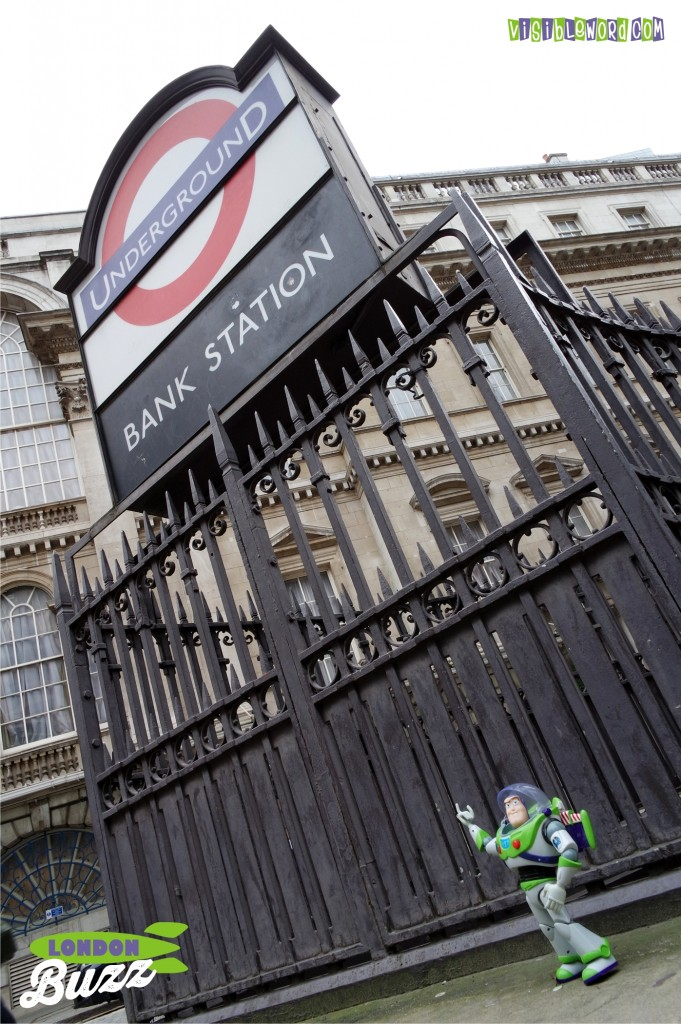 Buzz On Tour - Buzz at Bank Station - photograph copyright David Bailey (not the)