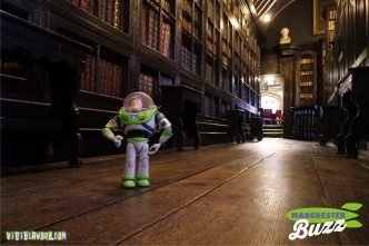 Buzz On Tour - Buzz at Chetham's Library in Manchester - photograph copyright David Bailey (not the)