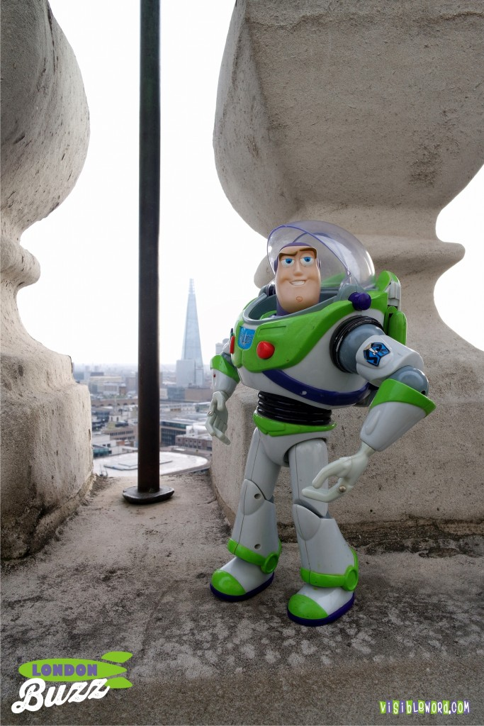 Buzz On Tour - The Shard from St Paul's Cathedral - photograph copyright David Bailey (not the)