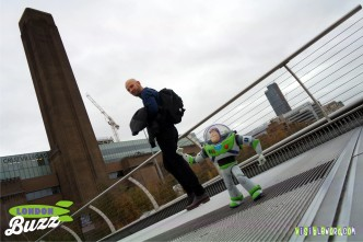 Buzz On Tour - the Millennium Bridge - photograph copyright David Bailey (not the)