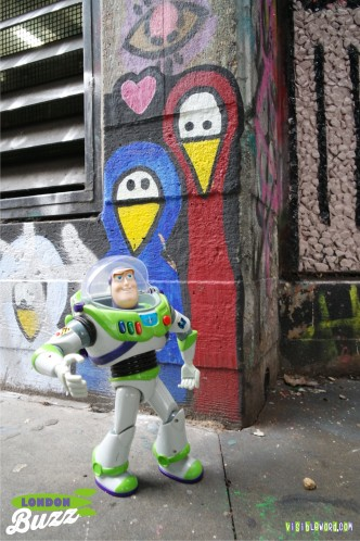 Buzz On Tour - South Bank graffiti - photograph copyright David Bailey (not the)