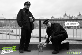 Buzz On Tour - Buzz portrait with Metropolitan Police Officers - photograph copyright David Bailey (not the)