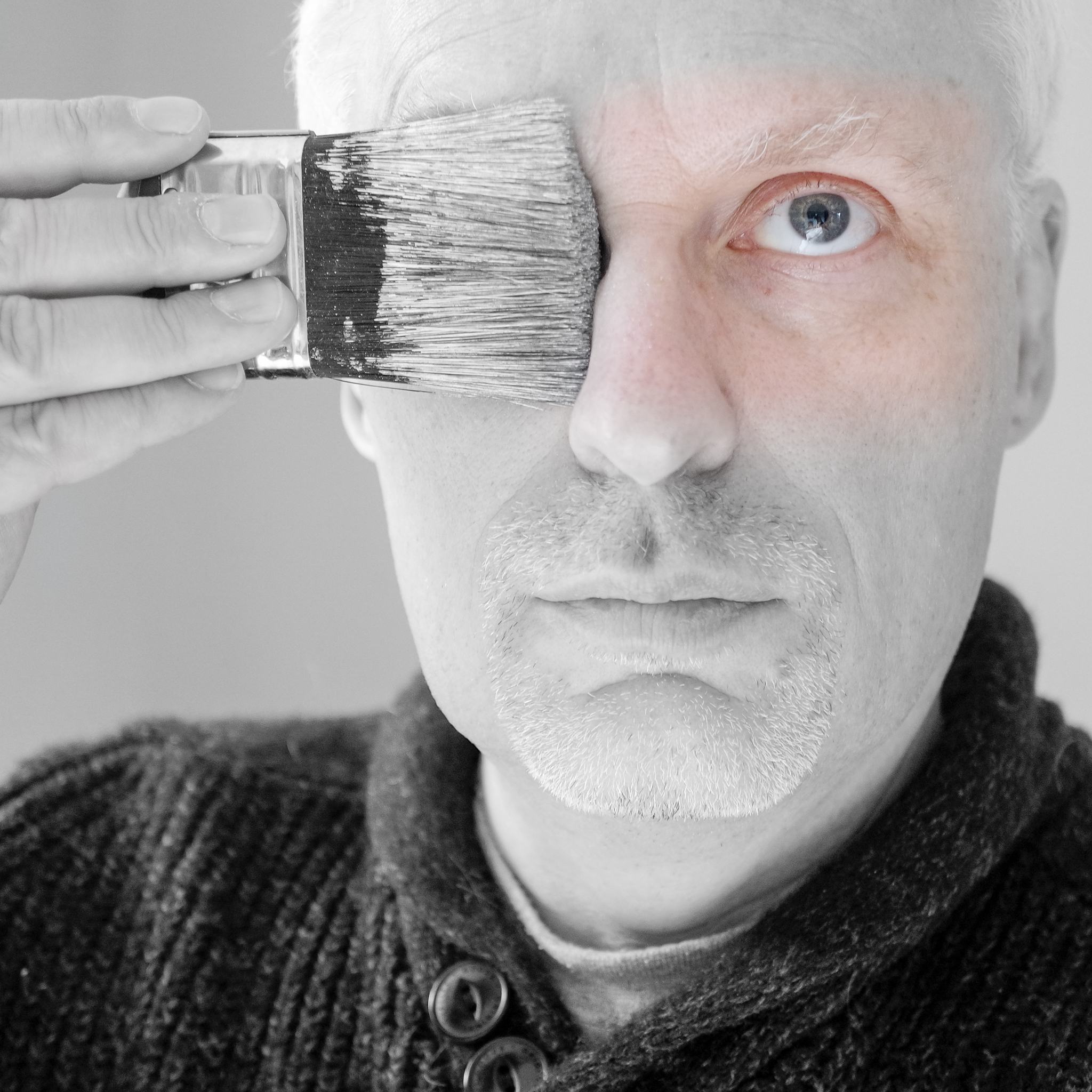 Sunday Selfie - 'A brush with colour' - Visible Word - photograph (c) David Bailey (not the)