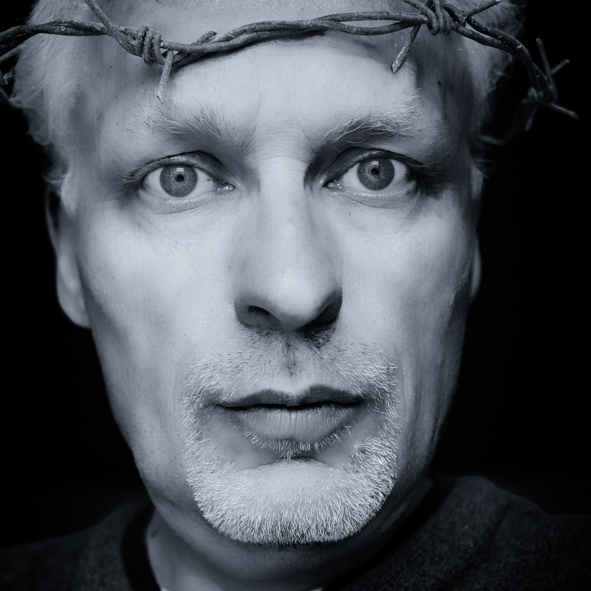 Sunday Selfie - 'Barbed Comment' - Visible Word - photograph (c) David Bailey (not the)