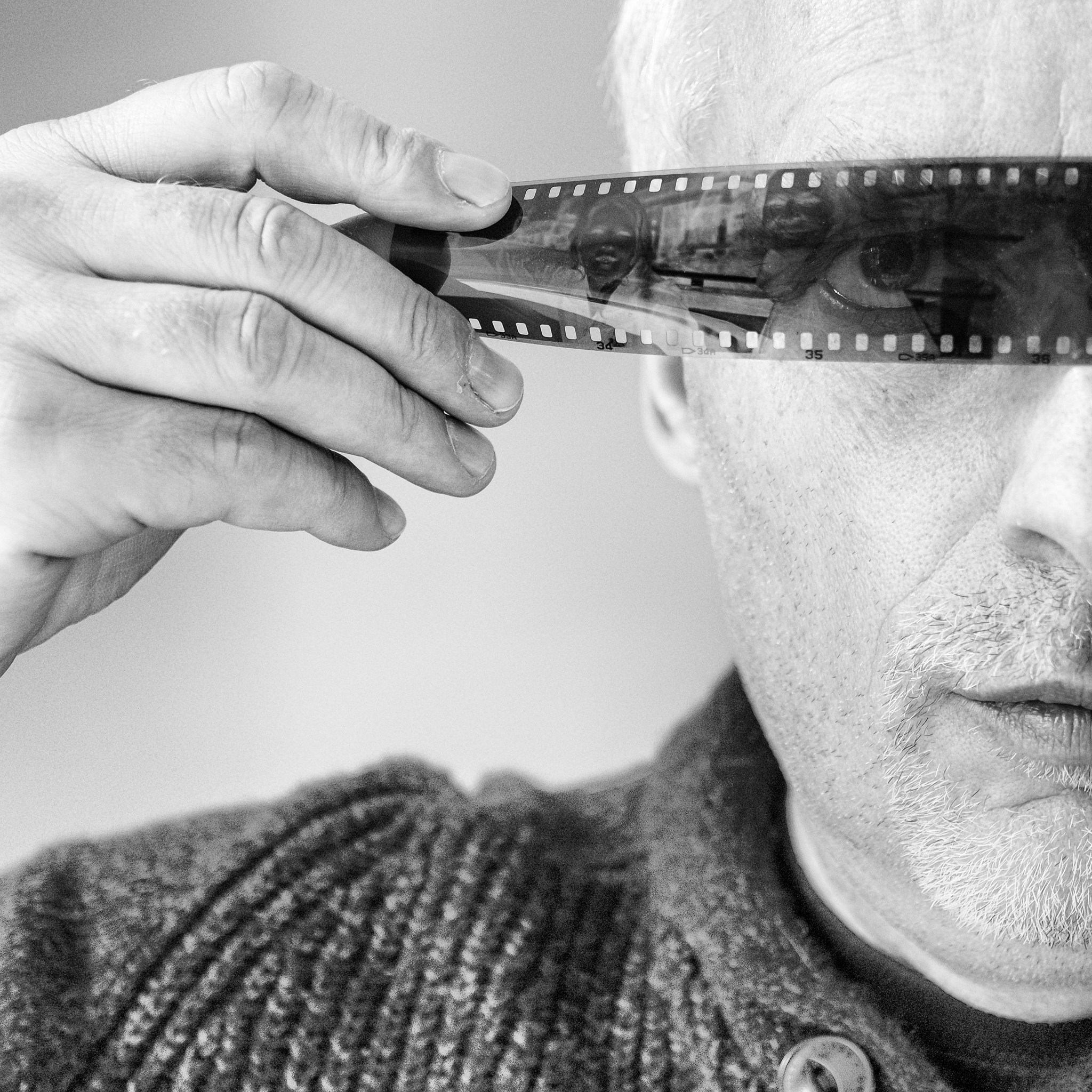 Sunday Selfie - 'I'm looking through you' - Visible Word - photograph (c) David Bailey (not the)
