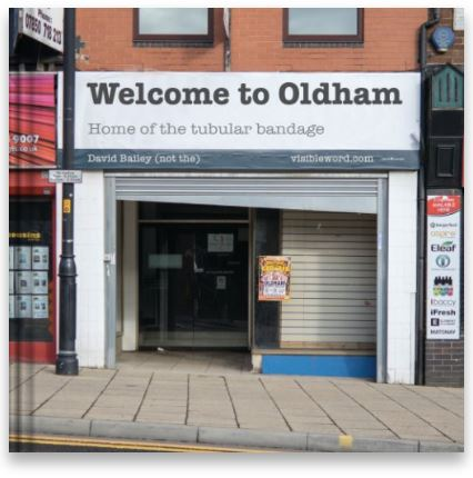 Welcome to Oldham - book cover - (c) Visible Word