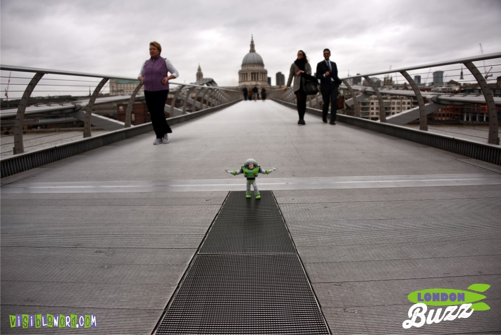 Buzz On Tour - Buzz on the Wobbly Bridge - photograph copyright David Bailey (not the)