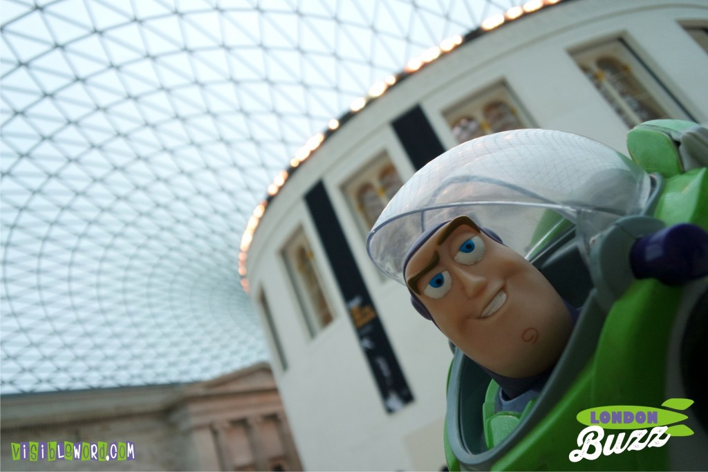 Buzz On Tour - Buzz at the British Museum - photograph copyright David Bailey (not the)