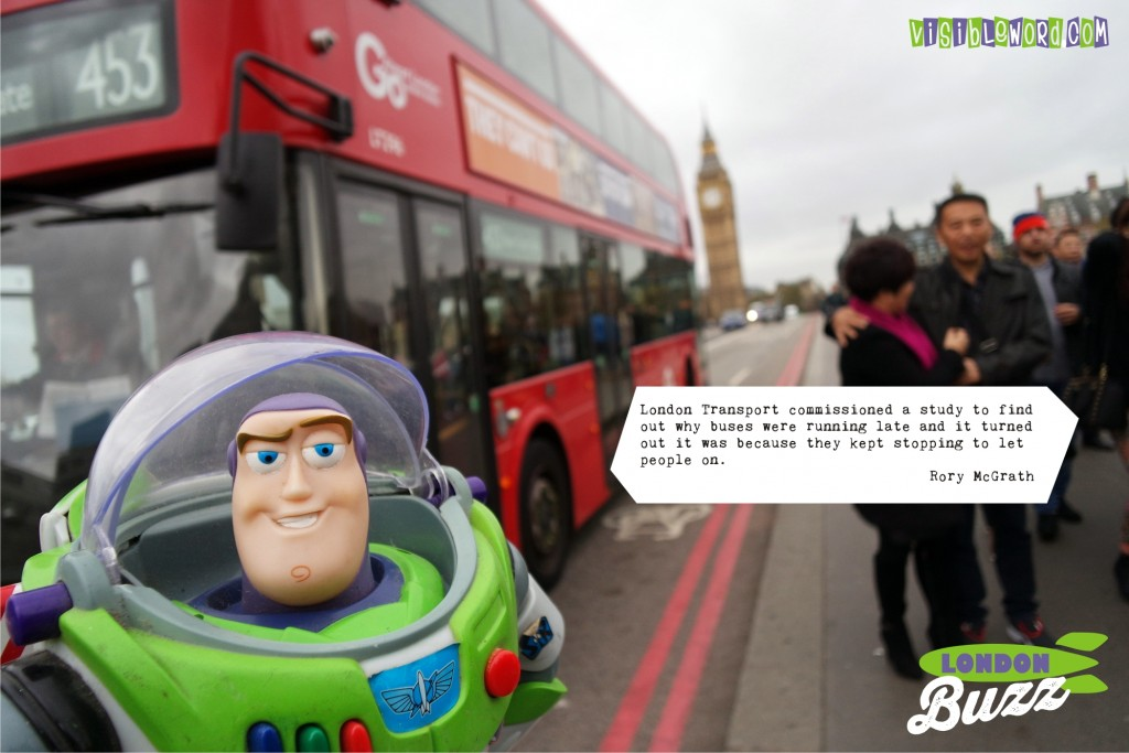 Buzz On Tour - Buzz on Westminster Bridge - photograph copyright David Bailey (not the)