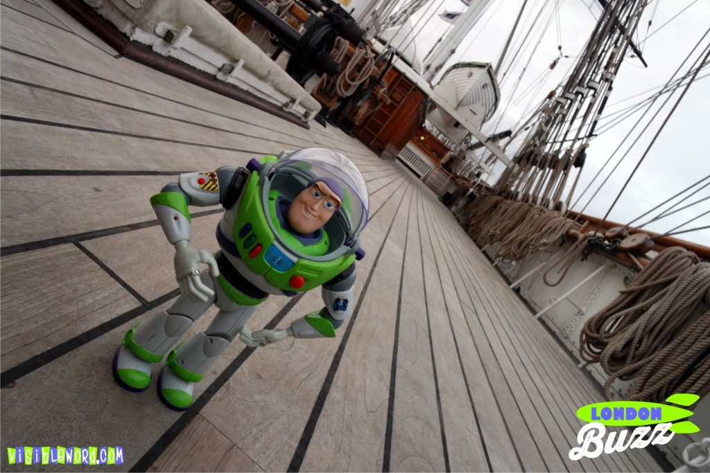 Buzz On Tour - Buzz at the Cutty Sark in Greenwich - photograph copyright David Bailey (not the)