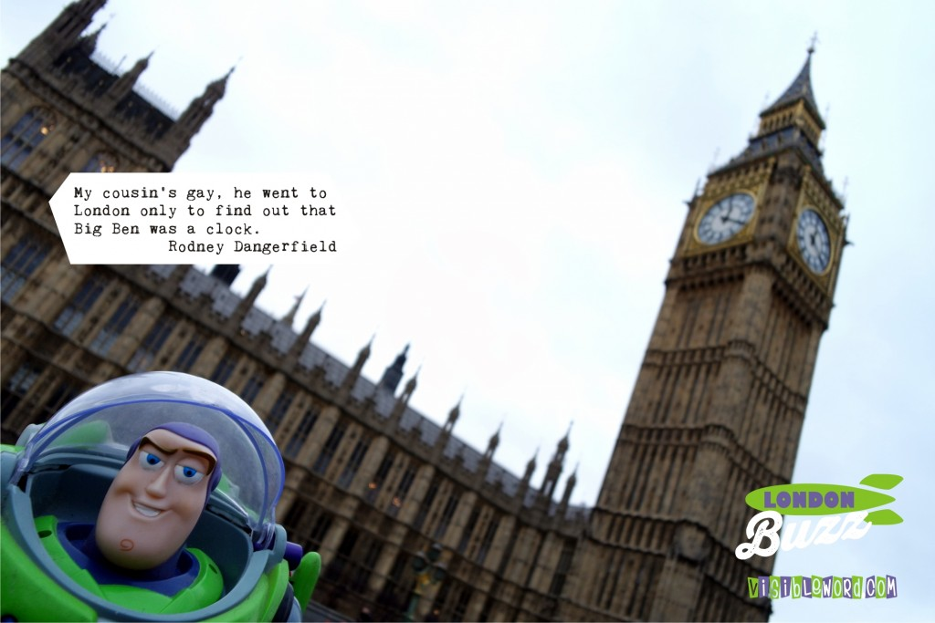 Buzz On Tour - Buzz and Big Ben - photograph copyright David Bailey (not the)