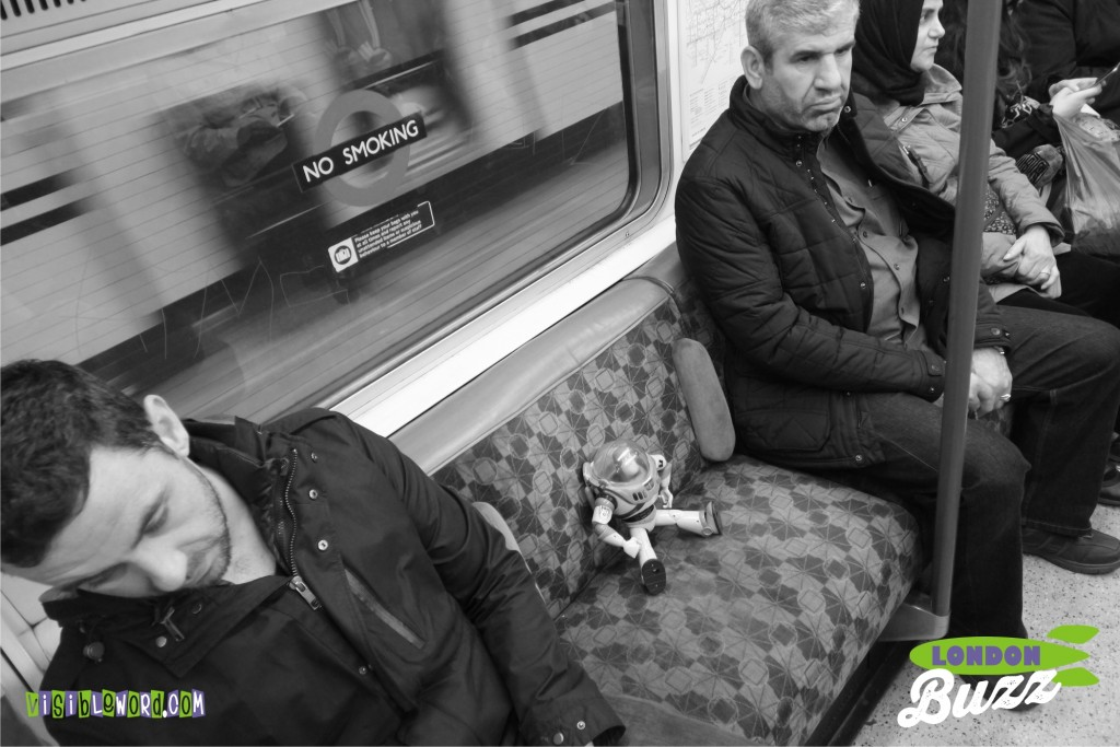 Buzz On Tour - Buzz on the London Underground - photograph copyright David Bailey (not the)