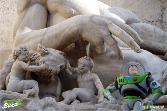 Rome Buzz - Romulus, Remus and Buzz - photograph copyright David Bailey (not the)