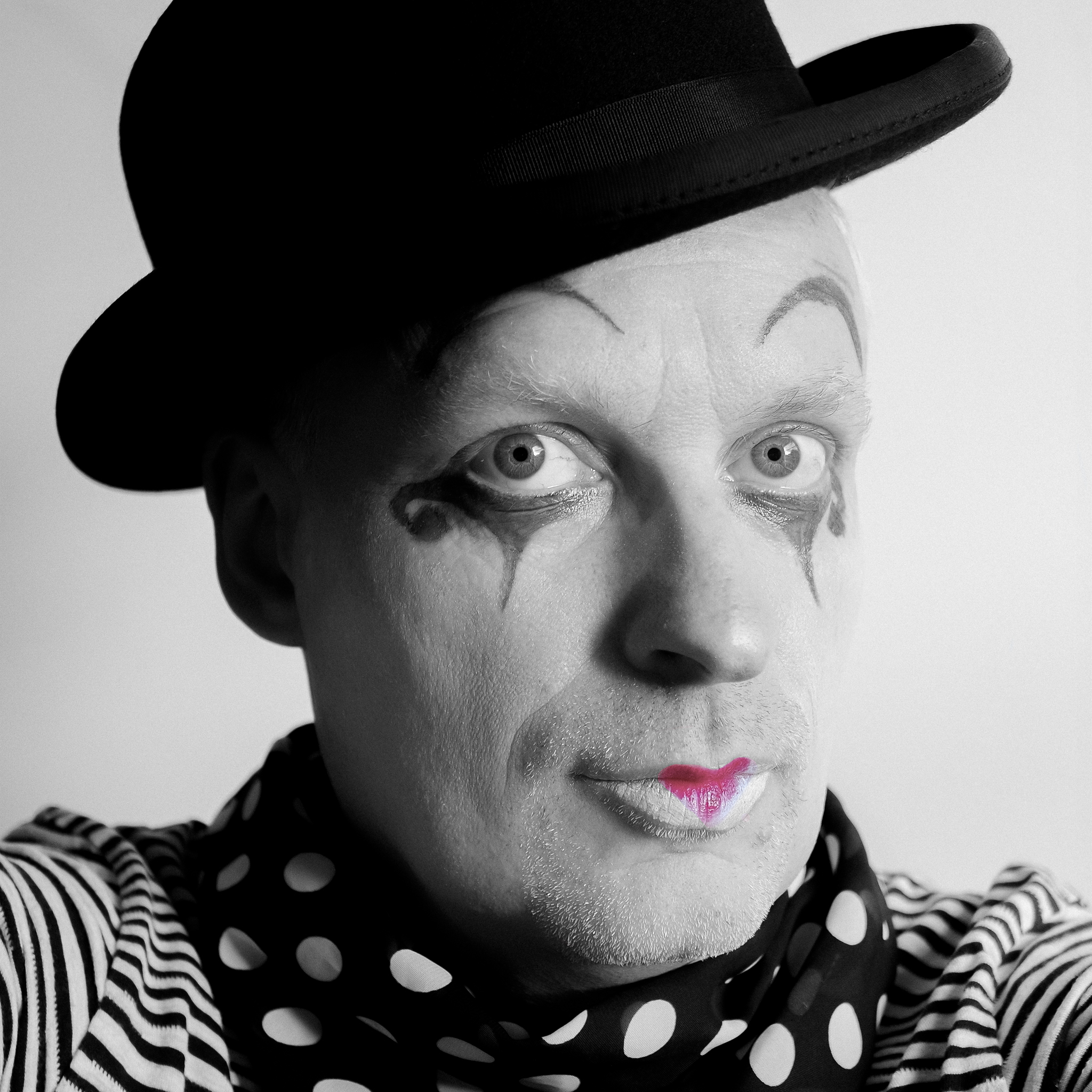 Sunday Selfie - 'The Last Clowns' - Visible Word - photograph (c) David Bailey (not the)