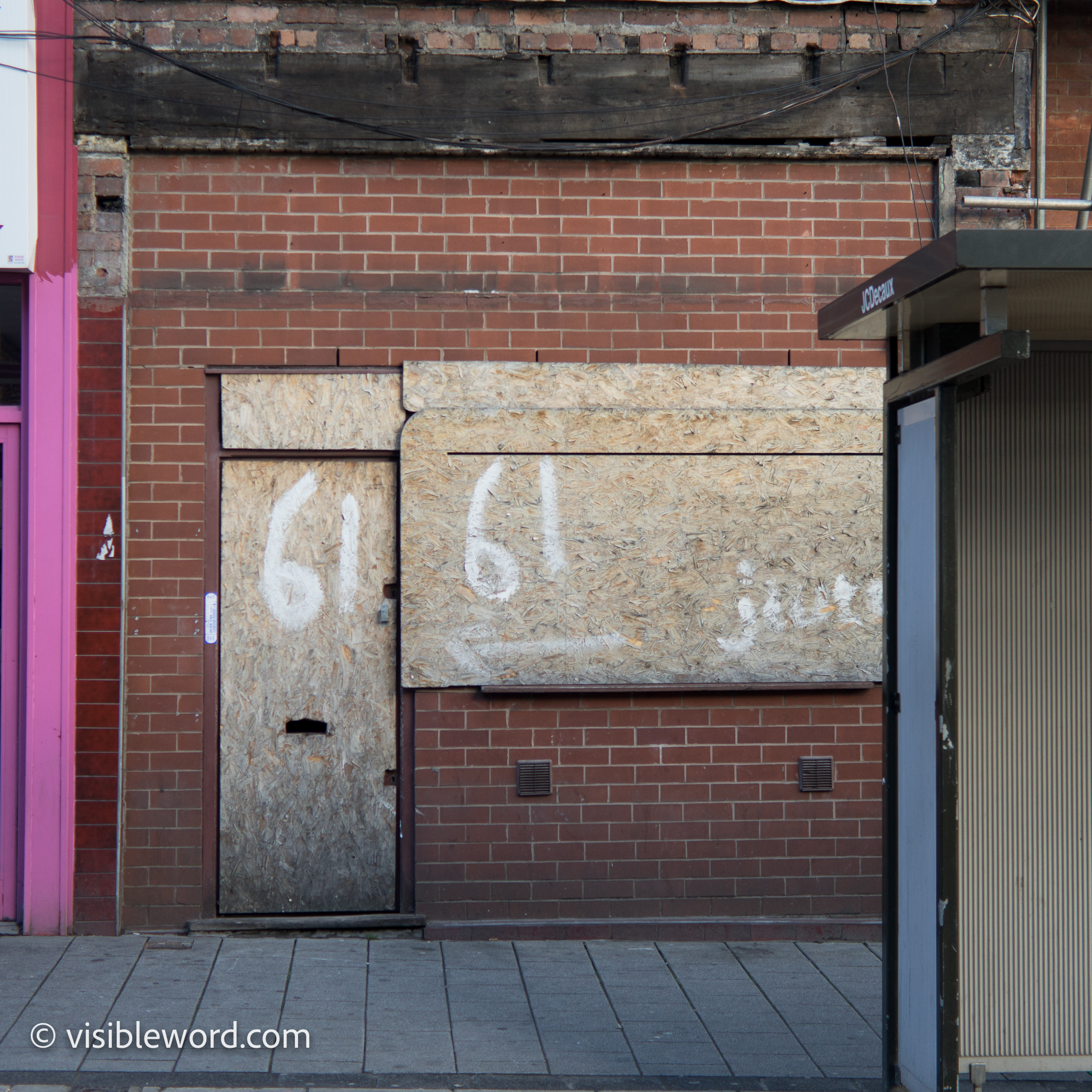Welcome to Oldham - Visible Word - photograph (c) David Bailey (not the)